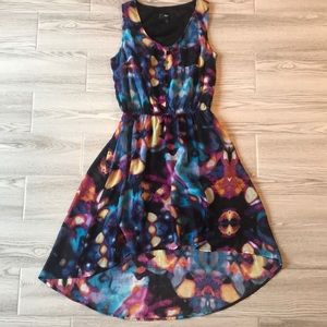Colorful high low dress